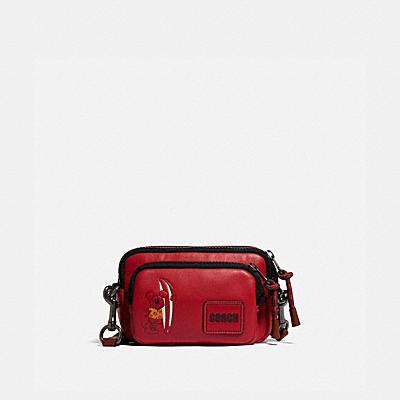 コーチ COACHの財布バッグ&ポシェット |DISNEY X COACH ペイサー コンバーチブル ダブル ポーチ ウィズ サーフ ミッキーマウス