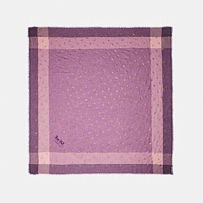 CHALLIS 格紋玫瑰印花圍巾