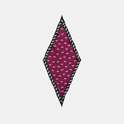 PARTY MOUSE 印花絲質圍巾