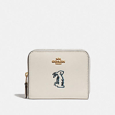 SELENA SMALL ZIP AROUND WALLET WITH BUNNY