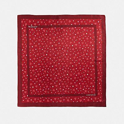 コーチ COACHのスカーフ |バレンタイン プリンテッド シルク スクエア スカーフ
