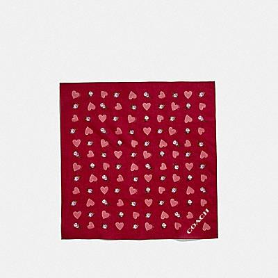 コーチ COACHのスカーフ |バレンタイン プリンテッド コットン ハンカチ