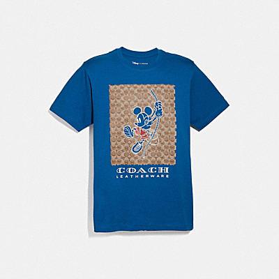 コーチ COACHのウェア |DISNEY X COACH ロープ クライム ミッキーマウス シグネチャー Tシャツ