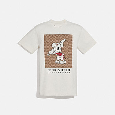 コーチ COACHのメンズギフト |DISNEY X COACH ベースボール ミッキーマウス シグネチャー Tシャツ