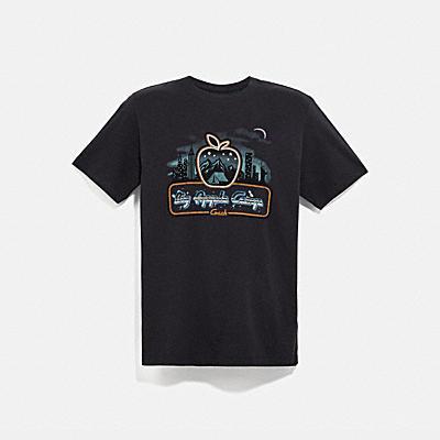 コーチ COACHのウェア |スカイライン ビッグ アップル キャンプ Tシャツ