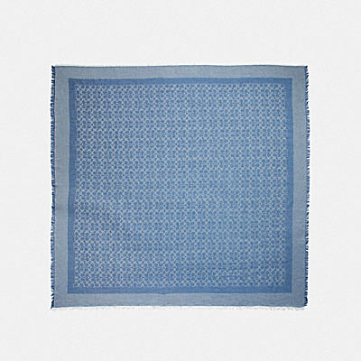 Denim Signature Jacquard Oversized Square 54x54