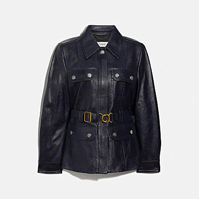 LEATHER BELTED HERITAGE JACKET
