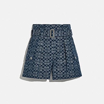 SIGNATURE BELTED SHORTS