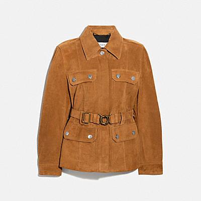 麂皮腰帶經典夾克