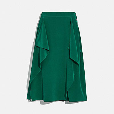DRAPED MIDI SKIRT WITH SIDE SNAPS