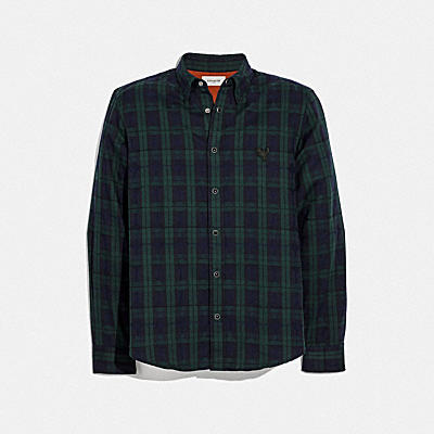 PLAID REXY PATCH SHIRT