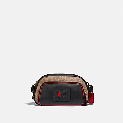 COACH X CHAMPION 經典 SIGNATURE 塗層帆布印花腰包