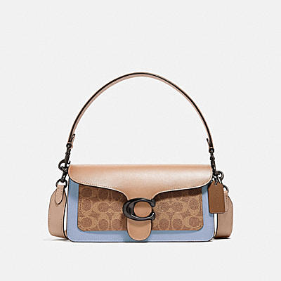 TABBY SHOULDER BAG 26 IN COLORBLOCK SIGNATURE CANVAS