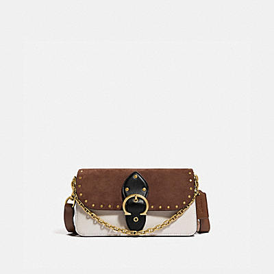 BEAT CROSSBODY CLUTCH WITH RIVETS