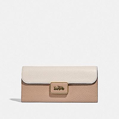 コーチ COACHの財布&革小物 |アリー ウォレット カラーブロック