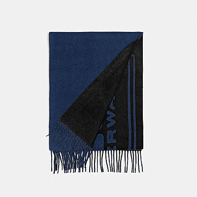 CASHMERE SCARF WITH COACH BADGE