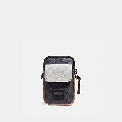 コーチ COACHの全てのメンズバッグ |ペイサー コンバーチブル ポーチ カラーブロック シグネチャー キャンバス