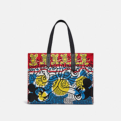 DISNEY MICKEY MOUSE X KEITH HARING 42 托特手袋