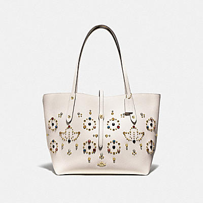 Resin Rivets All Over Market Tote
