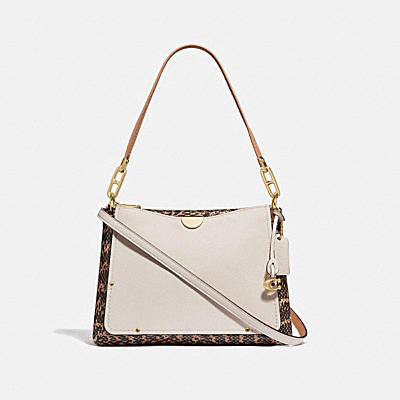 Mixed Materials Dreamer Shoulder Bag