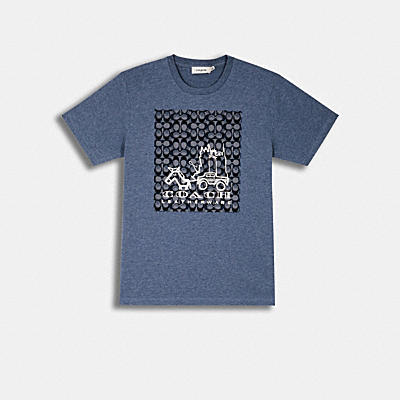 ABSTRACT HORSE AND CARRIAGE SIGNATURE T-SHIRT