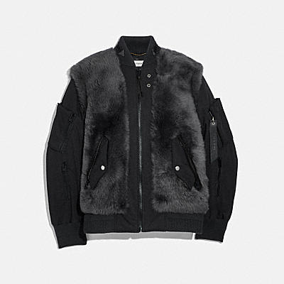 SHEARLING MA-1 JACKET
