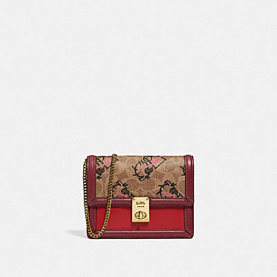 HUTTON BELT BAG IN SIGNATURE CANVAS WITH ABSTRACT HORSE AND CARRIAGE