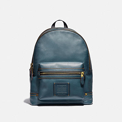 Academy Backpack With Leather Denim