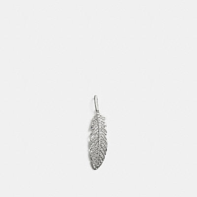 PAVE FEATHER CHARM