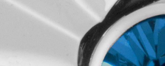 シルバー/ライト ブルー