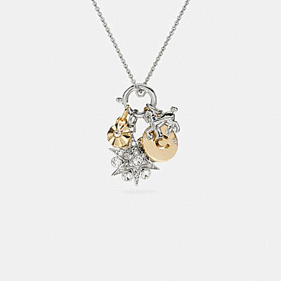 PAVE SNOWFLAKE NECKLACE CHARM SET
