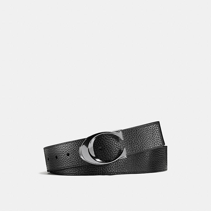 3802c25f7b COACH Official Site Official page|SCULPTED C CUT-TO-SIZE REVERSIBLE BELT