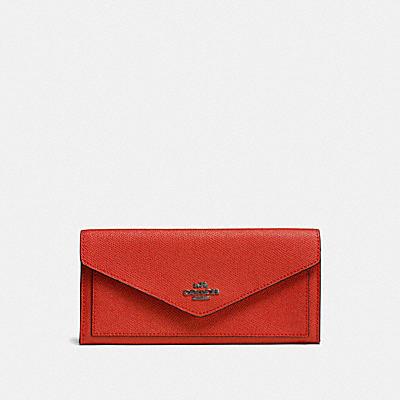 コーチ COACHの財布&革小物 |ソフト ウォレット クロスグレイン レザー