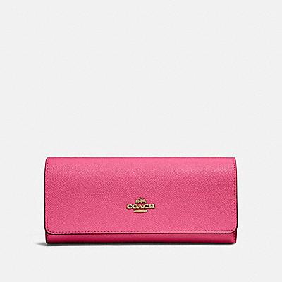 コーチ COACHの人気財布&革小物 |フラップ ウォレット クロスグレイン レザー