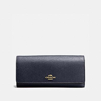 コーチ COACHの全ての財布&革小物 |フラップ ウォレット クロスグレイン レザー