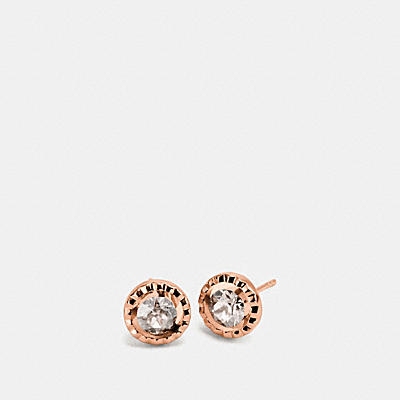 DAISY RIVET STONE STUD EARRINGS