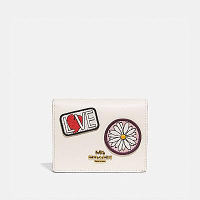 コーチ COACHの財布&革小物 |COACH X Kōki, スモール スナップ ウォレット ウィズ パッチ