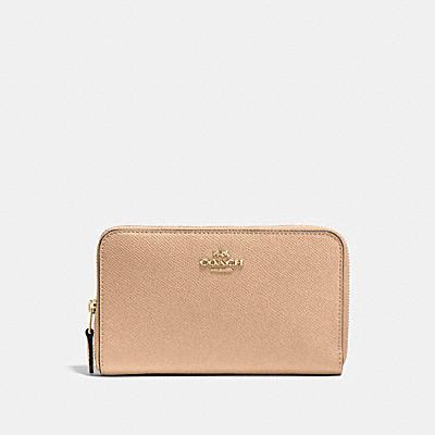 Crossgrain Leather Medium Zip Around Wallet