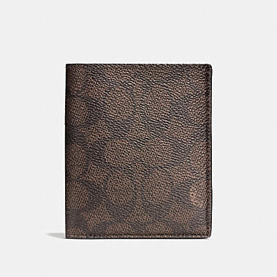 SLIM COIN WALLET IN SIGNATURE CANVAS