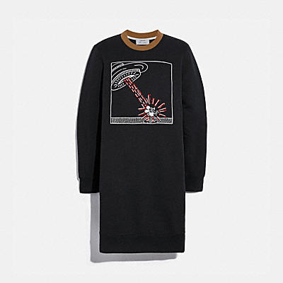 DISNEY MICKEY MOUSE X KEITH HARING SWEATSHIRT DRESS
