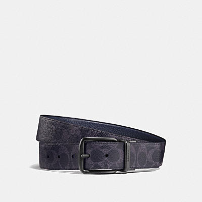 b049f0a8f2046 WIDE HARNESS CUT-TO-SIZE REVERSIBLE BELT IN SIGNATURE CANVAS