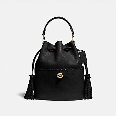 LORA BUCKET BAG WITH WHIPSTITCH DETAIL