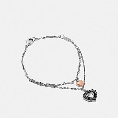 SCALLOP HEART DOUBLE LAYER BRACELET