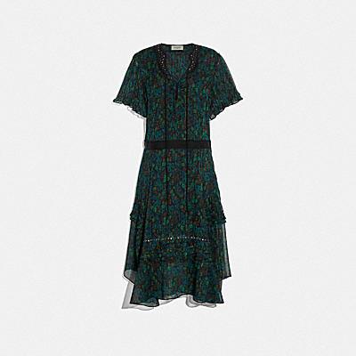 임벨리쉬드 레트로 플로럴 드레스