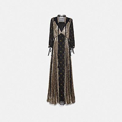 ロング プリーテッド ドレス