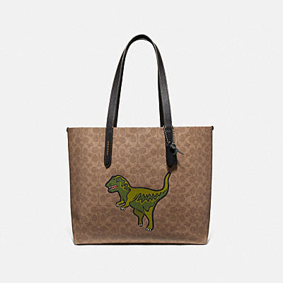 HIGHLINE TOTE IN SIGNATURE CANVAS WITH REXY
