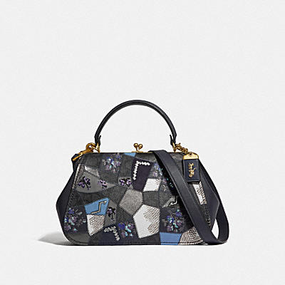 Coated Canvas Signature Patchwork Frame Bag