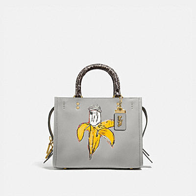 COACH X JEAN-MICHEL BASQUIAT ROGUE 25 WITH SNAKESKIN DETAIL