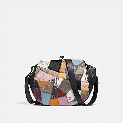OTT Patchwork Leather Frame Saddle Bag