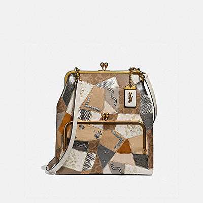 Ott Coated Canvas Signature Double Frame Crossbody 26